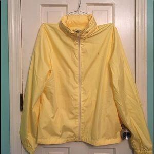 Danskin Now Yellow Windbreaker Raincoat
